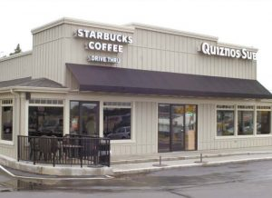 Startbucks Canvas Awning Jackson Michigan